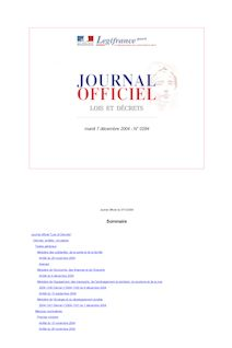 Journal officiel n°284 du 7 décembre 2004