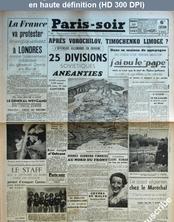 PARIS SOIR numéro 400 du 10 août 1941