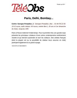 Paris, Delhi, Bombay...