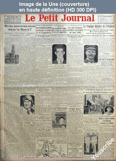 LE PETIT JOURNAL  numéro 23875 du 29 mai 1928