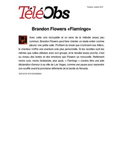 Brandon Flowers «Flamingo»