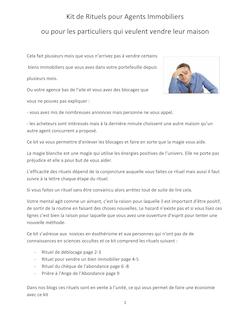 Vendre un bien immobilier (dossier pour agent immobilier ou particulier)