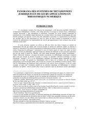 Panorama des métadonnées juridiques et de leurs applications en bibliothèque numérique