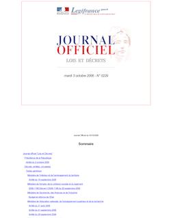 JORF n°229 du 3 octobre 2006