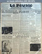 LE PEUPLE C.G.T.  numéro 6352 du 14 juin 1938