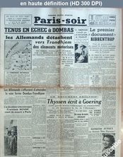 PARIS-SOIR du 29 avril 1940