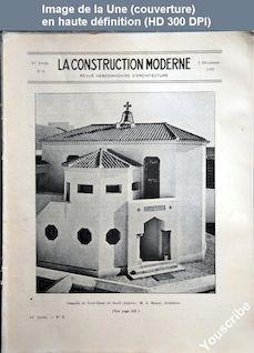 LA CONSTRUCTION MODERNE  numéro 9 du 02 décembre 1928