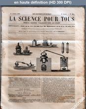 LA SCIENCE POUR TOUS  numéro 46 du 15 octobre 1863