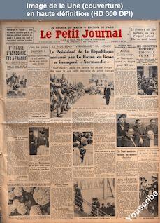 LE PETIT JOURNAL  numéro 26426 du 24 mai 1935