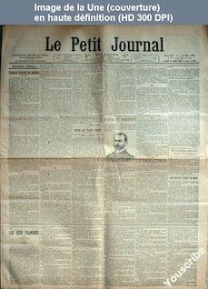 LE PETIT JOURNAL  numéro 14635 du 21 janvier 1903
