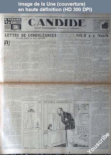 CANDIDE numéro 350 du 27 novembre 1930