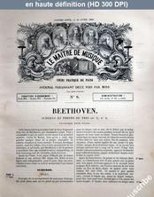 LE MAITRE DE MUSIQUE  numéro 8 du 15 avril 1881