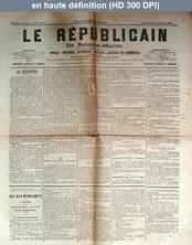LE REPUBLICAIN DE SEINE ET MARNE  numéro 1439 du 31 juillet 1885