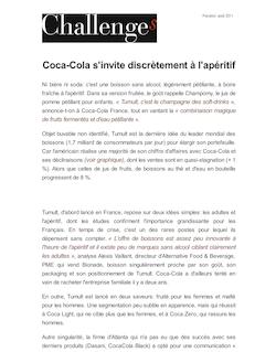 Coca-Cola s'invite discrètement à l'apéritif