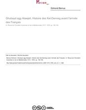 Ghubayd agg Alawjeli, Histoire des Kel-Denneg avant l'arrivée des Français  ; n°1 ; vol.21, pg 190-192