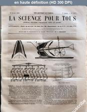 LA SCIENCE POUR TOUS  numéro 11 du 13 février 1862