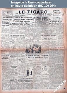 LE FIGARO  numéro 738 du 22 décembre 1946