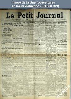 LE PETIT JOURNAL  numéro 18922 du 18 octobre 1914