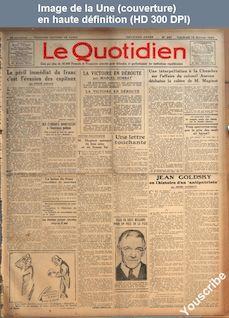 LE QUOTIDIEN  numéro 247 du 15 février 1924