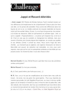 Juppé et Rocard débridés
