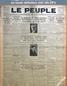 LE PEUPLE  numéro 2494 du 09 novembre 1927