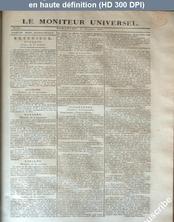 LE MONITEUR UNIVERSEL  numéro 317 du 13 novembre 1825