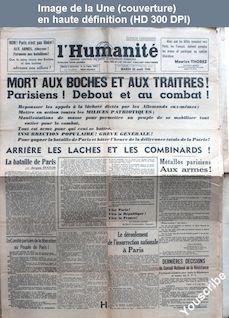 L' HUMANITE  numéro 2 du 22 août 1944