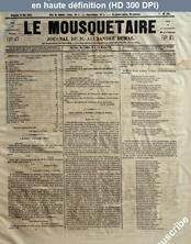 LE MOUSQUETAIRE  numéro 180 du 21 mai 1854