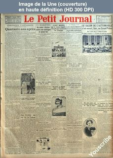 LE PETIT JOURNAL  numéro 24004 du 05 octobre 1928