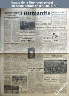 L' HUMANITE  numéro 277 du 03 juillet 1945