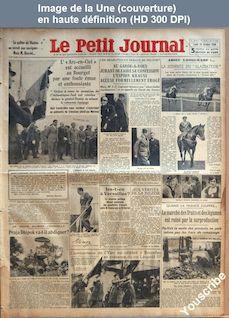 LE PETIT JOURNAL  numéro 26219 du 29 octobre 1934