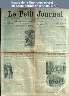 LE PETIT JOURNAL  numéro 17489 du 14 novembre 1910