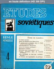 ETUDES SOVIETIQUES numéro 4 du 01 août 1948