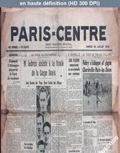 PARIS CENTRE numéro 8545 du 30 juillet 1932