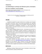 Grisemine, une bibliothèque numérique de littérature grise universitaire.