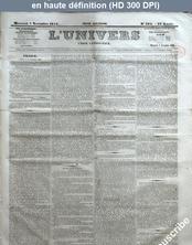 L' UNIVERS  numéro 304 du 07 novembre 1855