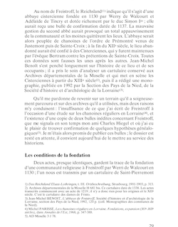 L'ABBAYE DE FREISTROFF AU XIIE SIÈCLE Au nom de Freistroff ...