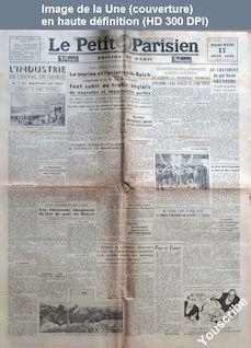 LE PETIT PARISIEN  numéro 23775 du 17 juin 1942