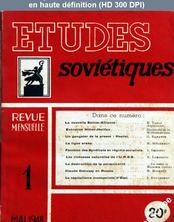 ETUDES SOVIETIQUES numéro 1 du 01 mai 1948