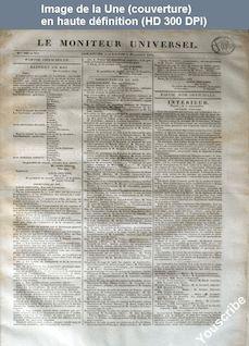LE MONITEUR UNIVERSEL  numéro 306 - 307 du 02 novembre 1834