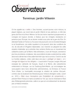 Terminus: jardin Villemin