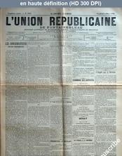 L' UNION REPUBLICAINE DE FONTAINEBLEAU  numéro 1931 du 06 mars 1896
