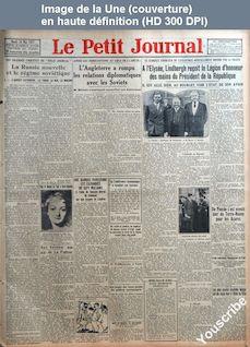 LE PETIT JOURNAL  numéro 23504 du 24 mai 1927