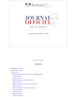 JORF n°145 du 24 juin 2007