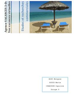 """Dossier Création Entreprise-Etude et Recherche Commerciale """"Vacances Virtuelles"""" n°2"""