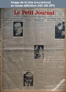 LE PETIT JOURNAL  numéro 22123 du 12 août 1923
