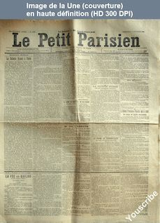 LE PETIT PARISIEN  numéro 6193 du 11 octobre 1893