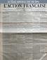L' ACTION FRANCAISE  numéro 234 du 09 novembre 1908