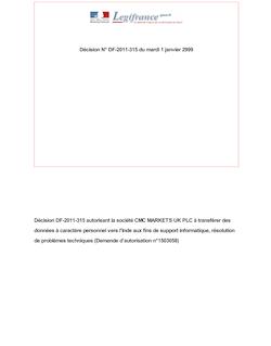 DECISION n°DF-2011-315 du