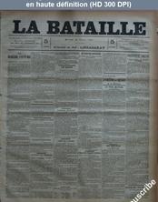LA BATAILLE  numéro 766 du 18 février 1891